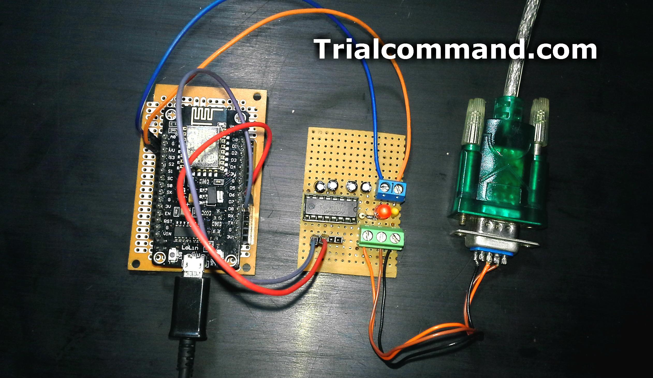 ESP8266 Slave Modbus RTU (RS232) - TrialCommand