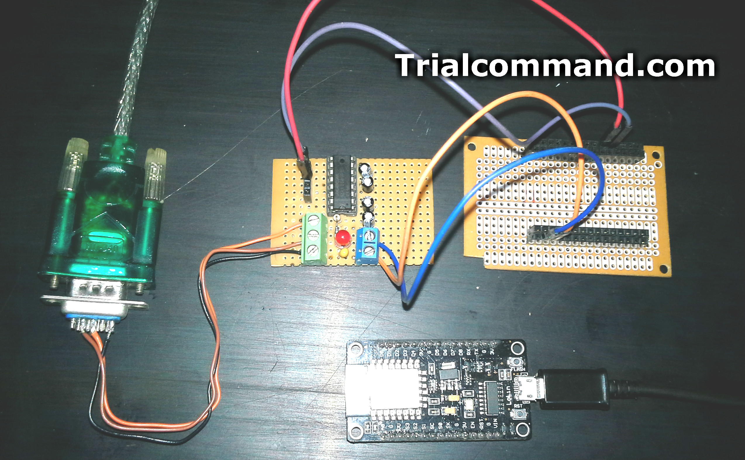 Esp8266 Slave Modbus Rtu Rs232 Trialcommand Ttl To Converter By Max232 Of Voltages 5v Although This Is Sold Normally We Have Decided Assemble It Diy So As Not Lose The Tradition