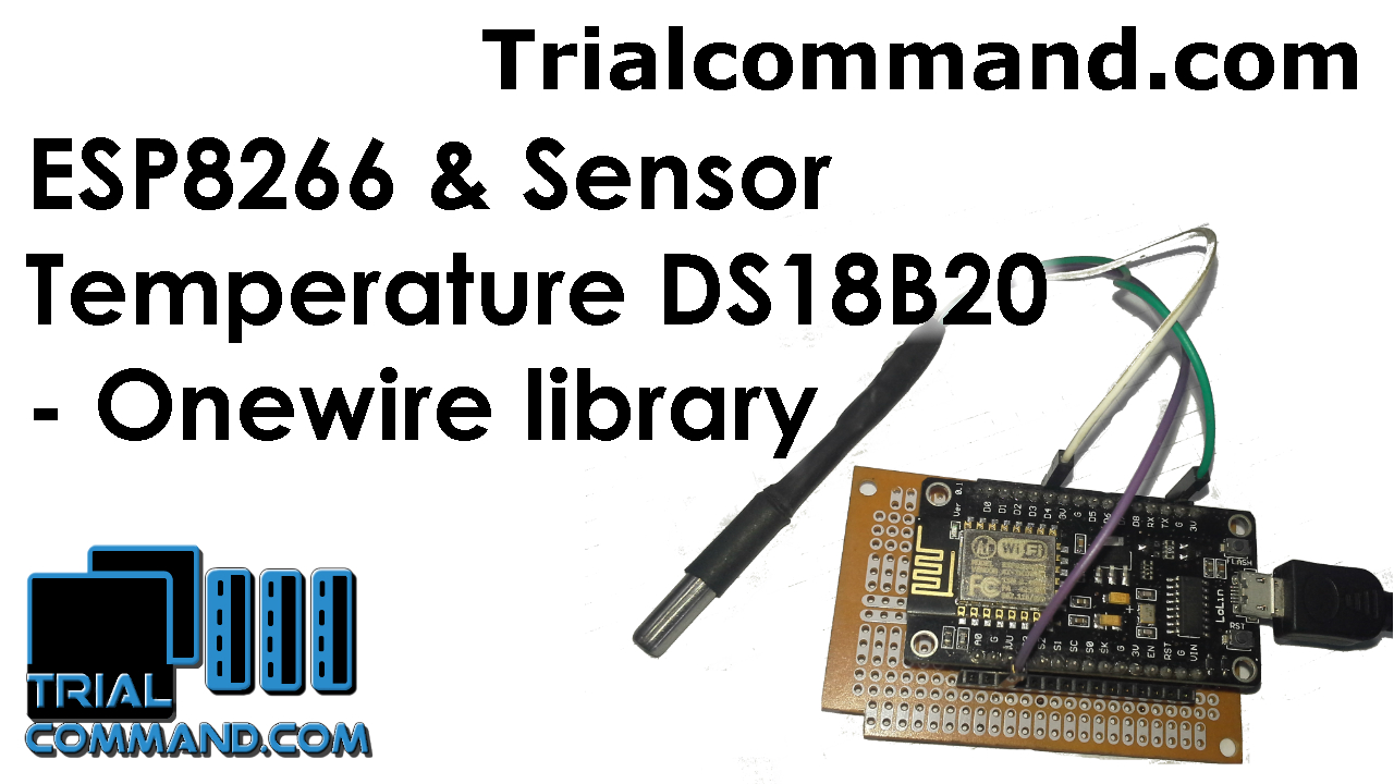 Esp8266 Temperature Sensor Ds18b20 And Onewire Library Trialcommand Wiring